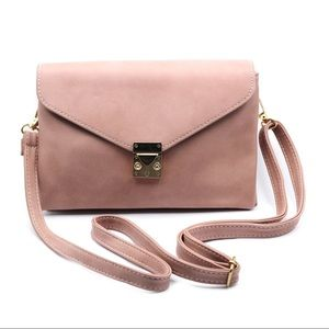 Envelope pink leather purse